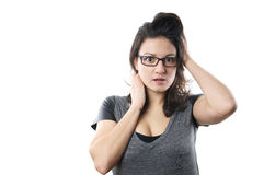 Worried young woman Royalty Free Stock Photo