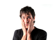 Worry. Young man with worried expression Royalty Free Stock Photo