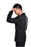 Worry business man isolated Stock Photography