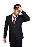 Worry business man isolated Stock Photos