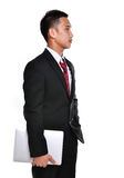 Worry business man isolated Royalty Free Stock Image