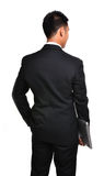 Worry business man isolated Stock Images