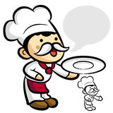 Worry that Chef Character Stock Photography