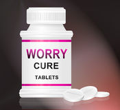 Worry cure concept. Royalty Free Stock Image