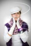Worry elegant girl royalty free stock photography