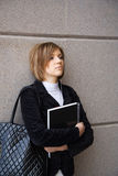 Young female student with notebook Royalty Free Stock Images