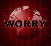 Worry Graph Shows Uneasiness Data And Diagram Stock Photo