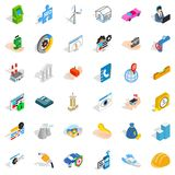 Worry icons set, isometric style. Worry icons set. Isometric style of 36 worry vector icons for web isolated on white background Stock Image