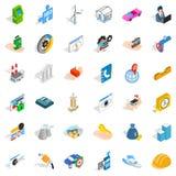 Worry icons set, isometric style Stock Image