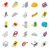 Worry icons set, isometric style. Worry icons set. Isometric set of 25 worry vector icons for web isolated on white background Stock Photo