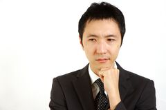 Worry Japanese businessman Royalty Free Stock Images