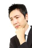 Worry Japanese businessman Royalty Free Stock Photo