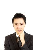 Worry Japanese businessman Stock Image