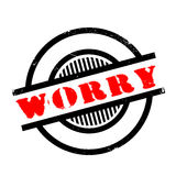 Worry rubber stamp Stock Photos