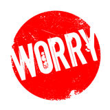 Worry rubber stamp Stock Images