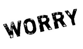 Worry rubber stamp Stock Photo