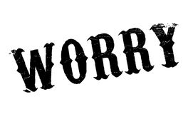 Worry rubber stamp Stock Image