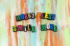 Worry less smile more attitude royalty free stock photography