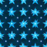Worry star symmertry motion seamless pattern Royalty Free Stock Photo