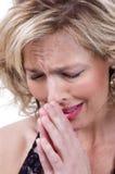 Worrying 30s woman Stock Photos