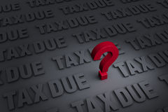 Worrying About Tax Due Royalty Free Stock Photos
