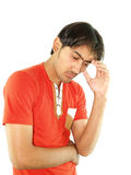 Worrying Thoughts. A portrait of a young man lost in worrying thoughts Stock Photography