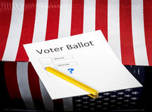 Worse and worser choices on a voter ballot Stock Photography