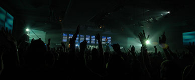 Worship. Hundreds of people worshipping at a concert Stock Photography