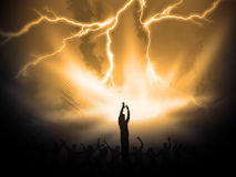 Worship. Many people are praising the holy lord Royalty Free Stock Images