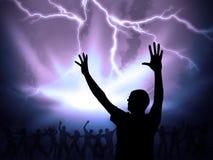 Worship stock illustration