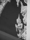 Worship of angel statue Royalty Free Stock Photo