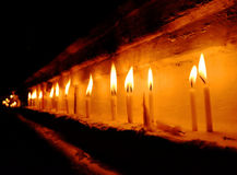 Worship candles. For celebrate and worship the god. Praying, faith, religion concept Stock Images
