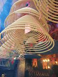Worship Coil in Buddhism Temple royalty free stock photo