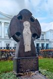 Worship cross in memory of Moscow patron Reverend Euphrasinia. In Moscow Royalty Free Stock Images