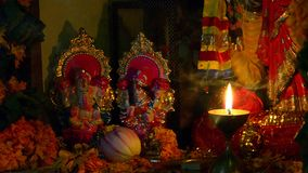 Worship. At Deepawali festival: The Hindu religion festival in India stock video footage