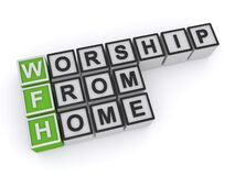 Free Worship From Home Word Block Royalty Free Stock Photography - 182488457