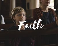 Worship God Believe Religion Faith Word stock images