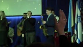 Worship, Hand Raised At Church In Pray stock video