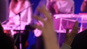 Worship, Hand Raised At Church In Pray stock video footage