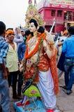 Worship of the Hindu goddess Durga in Varanasi, India Stock Images