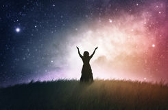 Worship at Night Royalty Free Stock Images