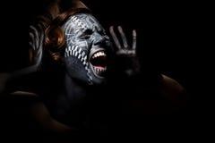 Worship - religious black female screaming Stock Photo