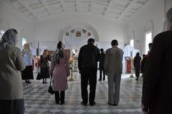 Worship in Russian church in Yerevan Royalty Free Stock Image