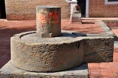Lingam Worship. Worship of Shiva Lingam in Patan Durbar Square, Nepal Royalty Free Stock Photography