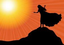 Worship silhouette Stock Image