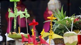 Worship supply in Lanna Thai ceremony stock footage