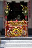 Worship table at a Chinese Temple royalty free stock photo