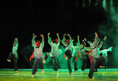 Worship teach-The Nuo-The exorcism dance. In December 27, 2014, the Department of dance of the students are for the annual graduation performance report in the Stock Image