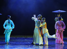 The worship of a teacher-The dance drama The legend of the Condor Heroes. In December 2, 2014, a large Chinese dance drama the legend of the Condor Heroes for Royalty Free Stock Images