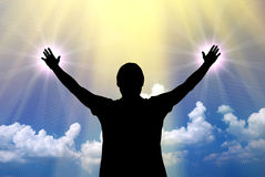 Worship to God Royalty Free Stock Photos